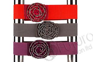 Clearance-Flower-Style-Elastic-Belt-Waistband-Mix-Colour-FP04
