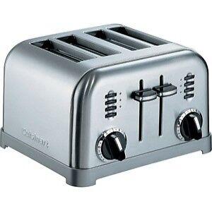 cuisinart cpt 180 4 slice toaster ebay. Black Bedroom Furniture Sets. Home Design Ideas