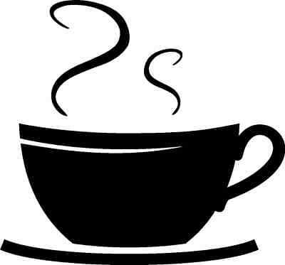 COFFEE CUP SWIRLS KITCHEN DECAL STICKER WORD WALL ART
