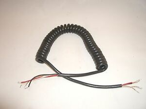 MOTOROLA HEAVY DUTY 6FT REPLACEMENT HAND MICROPHONE CABLE COILED ...