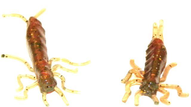 CYGOPTERA Libellenlarven Imitation Drop Shot 4 Stück Top für Barsch & Forelle
