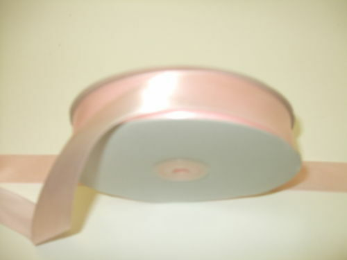 Ribbon single sided satin 25mm wide various colours