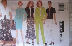 4941 Vintage Butterick SEWING Pattern Misses Jacket Dress Pants Skirt Easy UNCUT