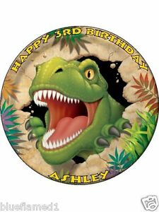Dinosaur Cake Decorations Uk : Dino Blast T rex Personalised 7.5