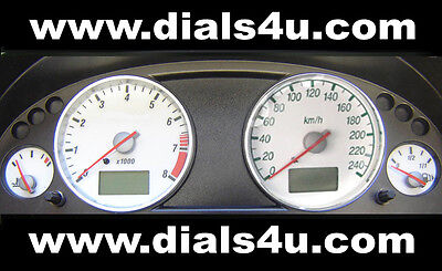 FORD MONDEO Mk3 (2000-2007) - 240km/h (Petrol or Diesel) - WHITE DIAL KIT