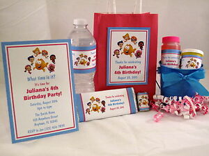 Bubble-Guppies-Girl-Birthday-PDF-CD-w-Invitation-Favor-Water-Candy-Gum-Wrapper