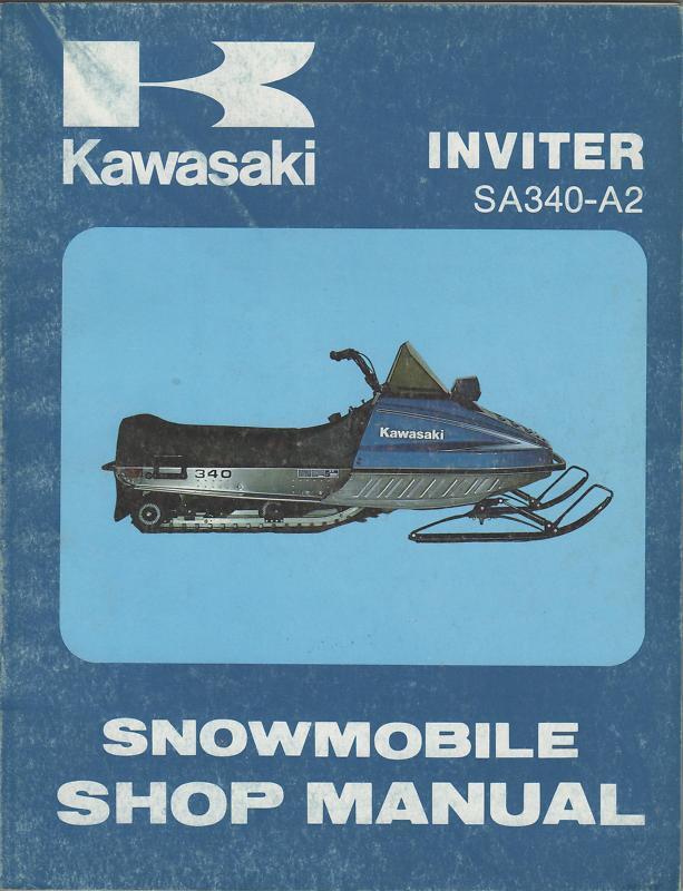 1978 KAWASAKI NEW SNOWMOBILE INVITER SHOP MANUAL NEW KAWASAKI 6e9c0d