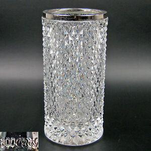 Emil-Hermann-Vase-Glas-800er-Silber-Glasvase-17cm