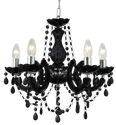 Marie Therese Glass 'Crystal' Chandelier Range -5 Colours - Acrylic Arms