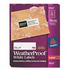 """Avery Dennison Ave-5522 Weather Proof Mailing Label - 1.33"""" Width X 4"""""""