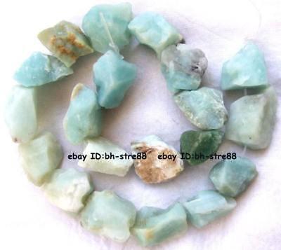 rough Natural Amazonite 12-16mm gemstone Beads 15''