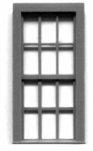 DBL HUNG 6//6 WINDOW HO Model Railroad Structure Plastic Detail Part GL5283
