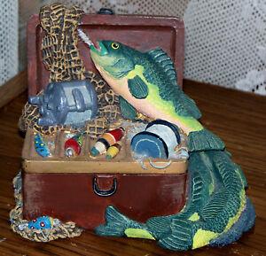 Figi tackle box fishing trinket jewelry fisherman gift for Fishing gift box