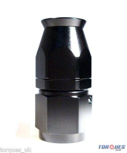 AN -6 (AN6) STRAIGHT Stealth Black Teflon Hose Fitting