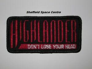 Highlander-The-Series-TV-Logo-Don-039-t-Lose-Your-Head-Patch-P247