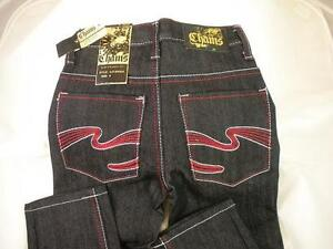 2-pair-NEW-CHAMS-Boys-Designer-JEANS-PANTS-Black-SLIM-Straight-FIT-SIZE-4