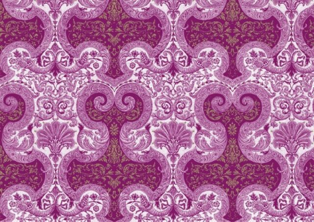 Rossi Brocade Flowers Wrapping Paper