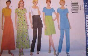 Vintage-Butterick-SEWING-Pattern-5044-Misses-Dress-Tunic-Pants-UNCUT-OOP-NEW-FF