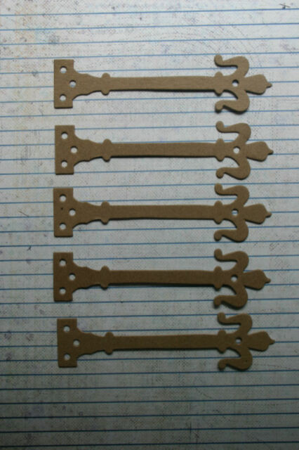 "5 Bare chipboard Hinge diecuts  4 1/2"" w x 1 1/8"" h"