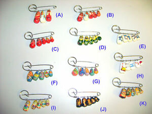 LOT-OF-10-Russian-Nesting-Dangling-Doll-Pin-Pins-Gift-for-Teachers