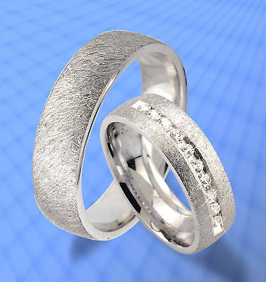 Nett Trauringe Eheringe Bicolor Silber Partner Ringe Jk7-10 Klar Und Unverwechselbar