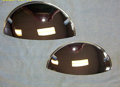 "7"" Half moon Head light Shields covers custom Chrome accessory"