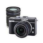 Olympus  PEN E-PL1 12.3 MP Digital Camera - Black (Kit w/ 14-42mm and 40-150mm Lenses)