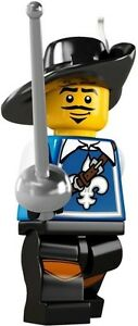 3-LEGO-Minifig-series-4-musketeer-8804-city-castle-new