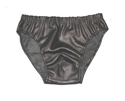 Men's Leather Shorts Boxer Underwear New