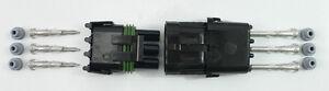 PER-045-Weather-Pack-Connector-3-Pin-Kit-14-16-Gauge-Weathertight-Seal-Sealed