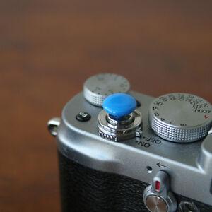 Blue Small Soft Release Button f/ Leica M3 M4 M6 MP M8 M9 Fuji X100 Nikon Canon