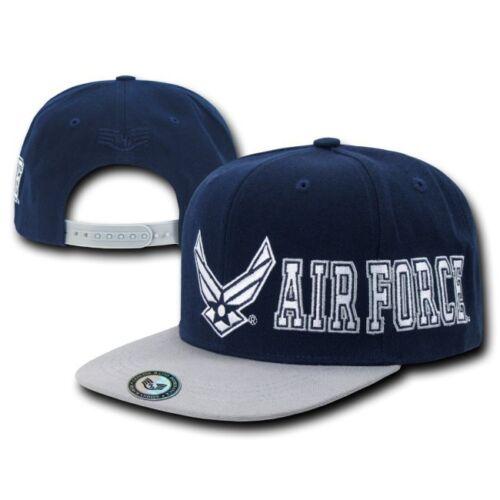 United States USAF Air Force Wings Retro Flat Bill Baseball Cap Hat Caps Hats