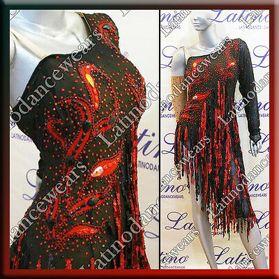 LATIN RHYTHM SALSA BALLROOM COMPETITION DANCE DRESS - SIZE S, M, L (LS209)