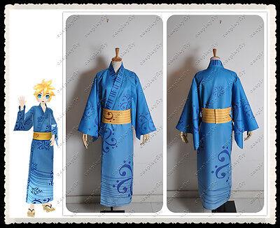 Hatsune Miku Project DIVA F Bathrobe Kimono Kagamine Len Cosplay Costume