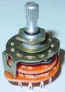 Stufendrehschalter-4x3-Schaltungen-EIN-Drehschalter-250V-0-5A-S33S