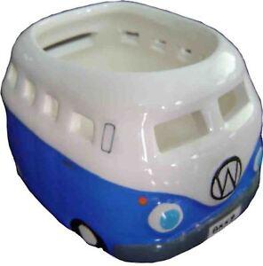 Dark-Blue-VW-Tea-Light-Candle-Holder-Volkswagen-Ceramic-For-Tealights
