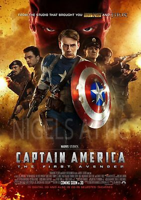 CAPTAIN AMERIA   FIRST AVENGER MOVIE A3 FILM POSTER