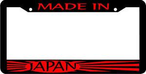 Black Made In Japan Jdm License Plate Frame Ebay
