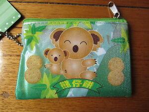 KOALA-COOKIES-GREEN-PLASTIC-COIN-POUCH-CARD-CASE-PURSE-BAG-XMAS-CHRISTMAS-GIFT