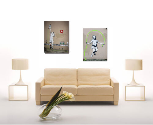 Banksy Set of 2 ready to Hang Kid/'s Jumping Neon Electrical Rope-Brooklyn NY