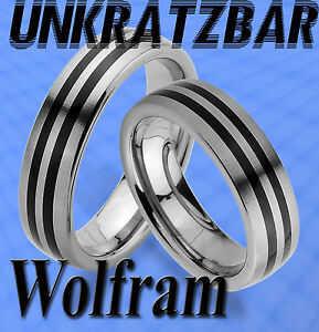 WOLFRAM RINGE & GRAVUR GRATIS ; TUNGSTEN ; TRAURINGE ; SEHR HART ...