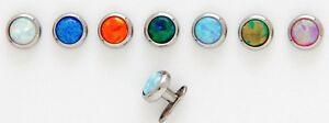 6mm Opal Stein Dermal Anker Kopf - 9 Farben Modern Und Elegant In Mode