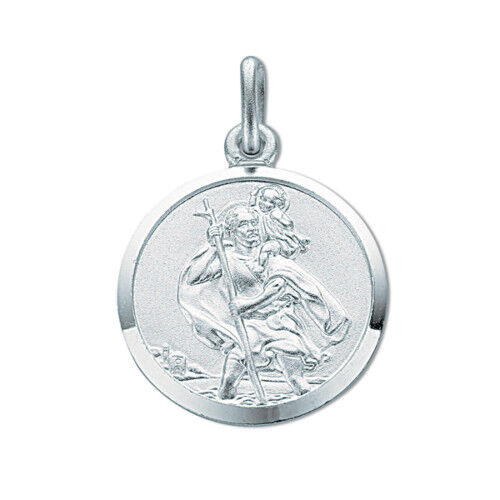 St Christopher Solid Silver 18mm