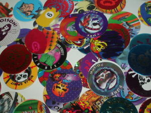 40-ct-POGS-MILKCAPS-Vintage-1990-039-s-game-party-favor-x40
