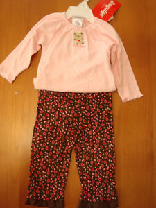 2PC-BABY-GIRLS-034-LOVES-HUGS-034-AND-034-MOMMY-039-S-TREASURE-034-OUTFITS-SIZES-VARY-NWT