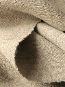 Antique-linen-homespun-hemp-DARK-HEAVY-by-25-inches-wide-fabric-5-3YDS-Rustic