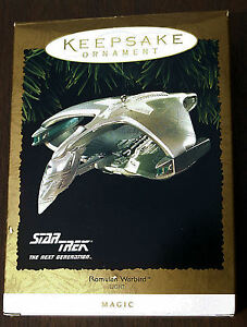 Hallmark-Magic-Keepsake-Ornament-Romulan-Warbird-with-Lights-1995-MIB