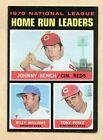 1971 Topps Home Run Leaders #66 Baseball Card