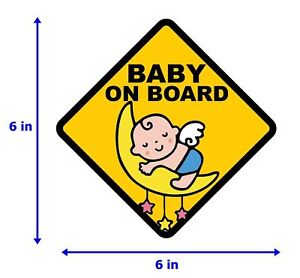 Baby-on-Board-Sign-Safety-Car-Decal-Sticker-Van-BS10