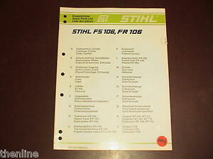 Stihl Fs 83 Parts Manual